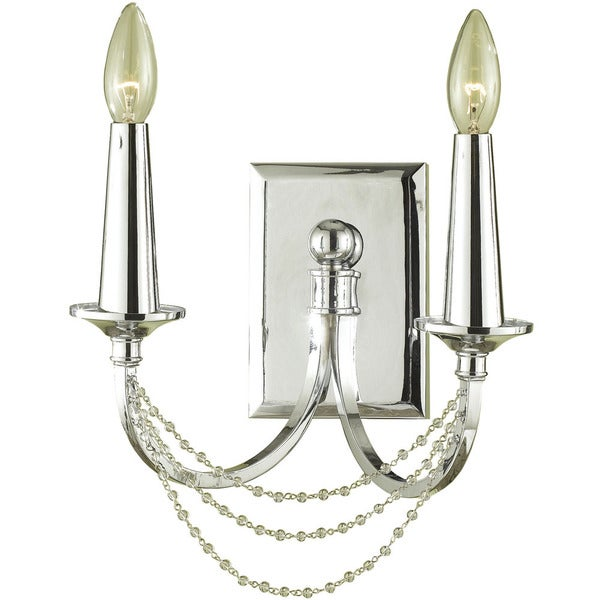 Candice Olson Chrome 7703-2W Shelby 2-light Sconce