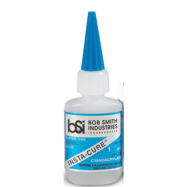 Insta-cure super thin Cyanoacrylate Adhesive 1oz Bob Smith Ind.(gl7102)