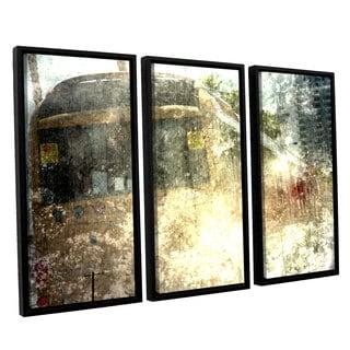 ArtWall Mark Ross's 'Fade' 3-piece Floater Framed Canvas Set