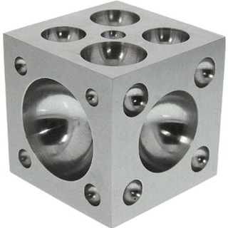 "Dapping Block  with Polished Stainless Steel Cavities, 2 x 2 x 2"" (da10) 17763731"