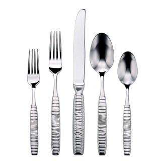 Oneida Glenwood textured stainless steel flatware set (65 piece set)
