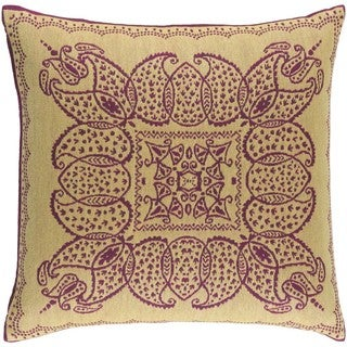Decorative Burbank 20-inch Poly or Down Filled Throw Pillow