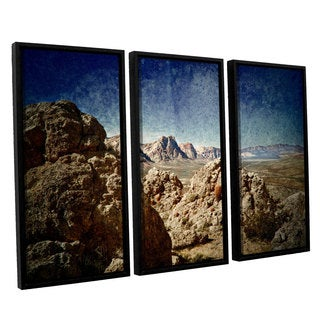 ArtWall Mark Ross's 'Powder' 3-piece Floater Framed Canvas Set