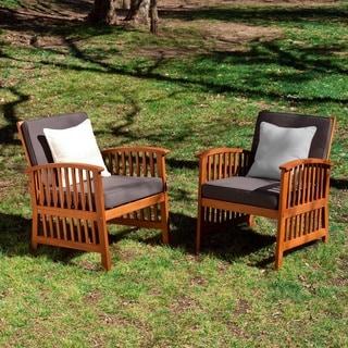 Upton Home Charlotte 2-piece Outdoor Armchair Set