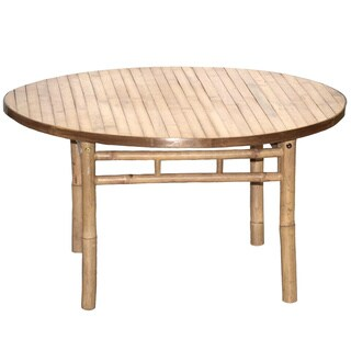 Bamboo54 Handcrafted Bamboo Round Coffee Table (Vietnam)
