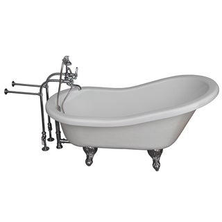Barclay Universal 67-inch Tub Kit with Acrylic Slipper/ Tub Filler/ Supplies and Drain