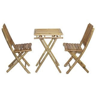 Bistro Small Bamboo Table and Chairs Set (Vietnam)