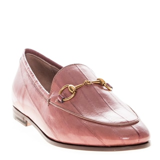 Gucci Women's Jordaan Blush Pink Leather Loafers