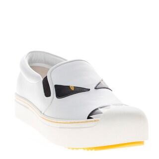 Fendi Buggies Leather Slip-On Sneakers