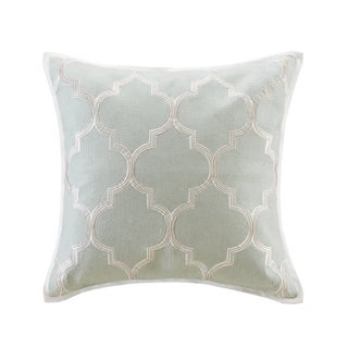 Harbor House Cecil Cotton Square 18x18 Limestone Throw Pillow