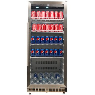 EdgeStar Stainless Steel 11.2 Cu. Ft. Commercial Beverage Cooler