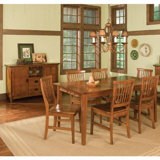 Arts and Crafts 7-piece Rectangular Dining Set