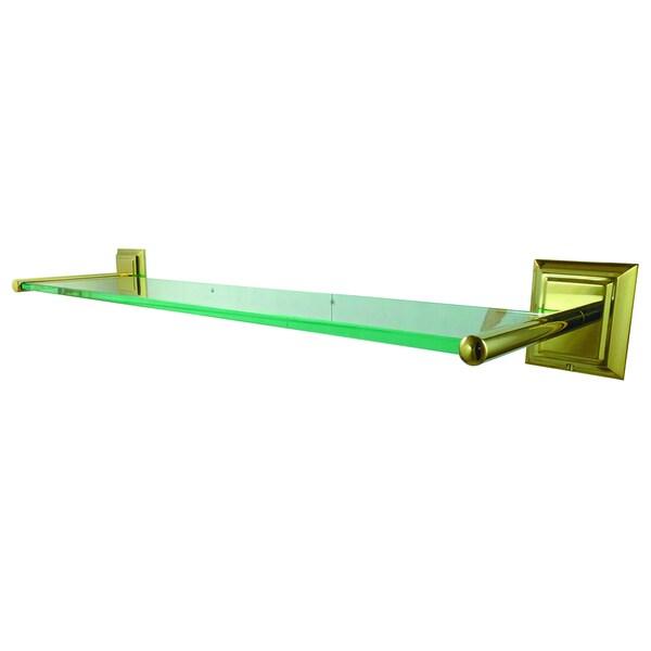 Polished Nickel Bathroom Glass Shelf 17765161
