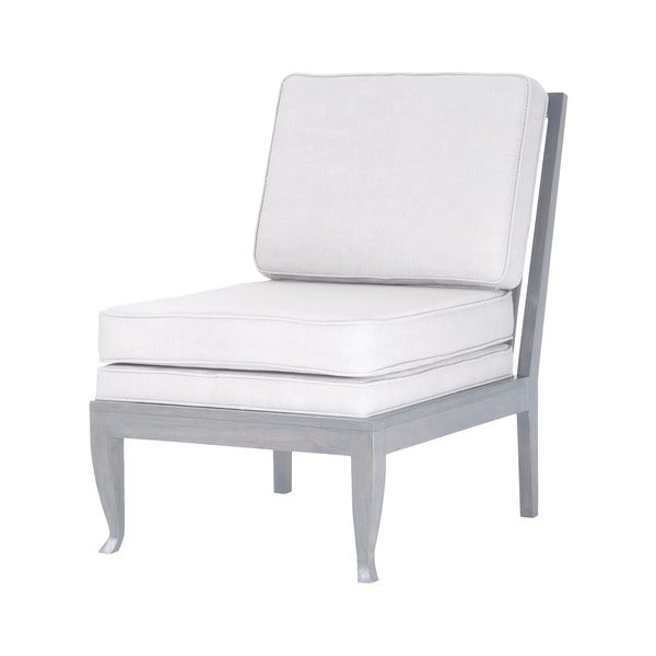 Dimond Home Janice Chair In Antique Smoke With Morning Mist Linen Upholstery
