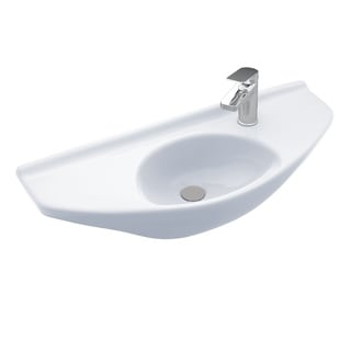 Toto Wall-mount Vitreous China Bathroom Sink LT650G#01 Cotton White