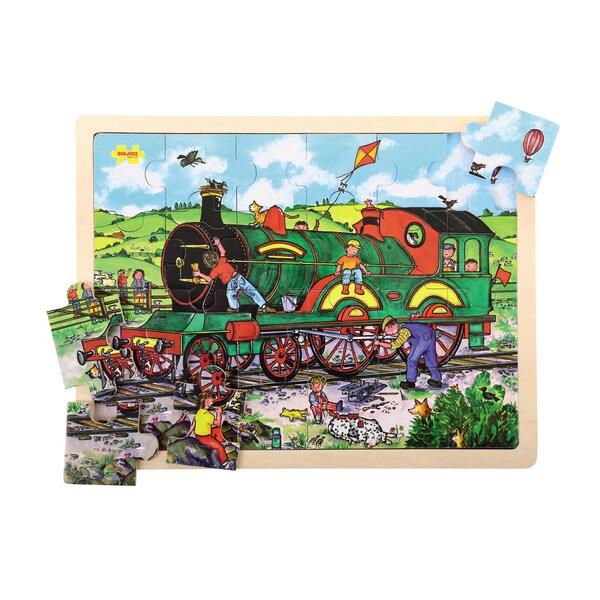 Bigjigs Toys 24 Piece Tray Train Puzzle 17765254