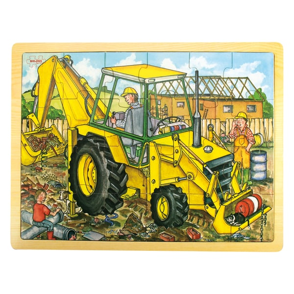 Bigjigs Toys 24 Piece Tray Digger Puzzle 17765256