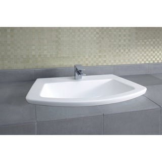 Toto Soiree Drop In/Self Rimming Vitreous China 18.88 27.50 Bathroom Sink LT963#01 Cotton White