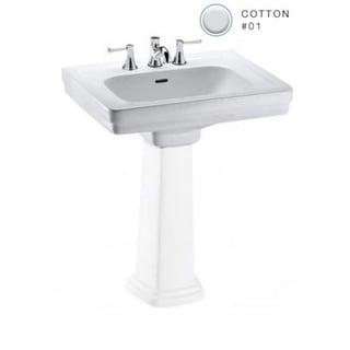 Toto Promenade Pedestal Vitreous China Bathroom Sink LT532.8#01 Cotton White
