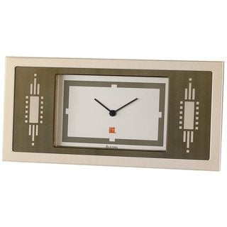 Bulova B7733 Frank Lloyd Wright Collection Brushed Copper-Finish Frame and Dial Easel Back Clock