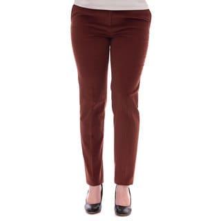 Robert Talbott Women's Orange Corduroy Pants