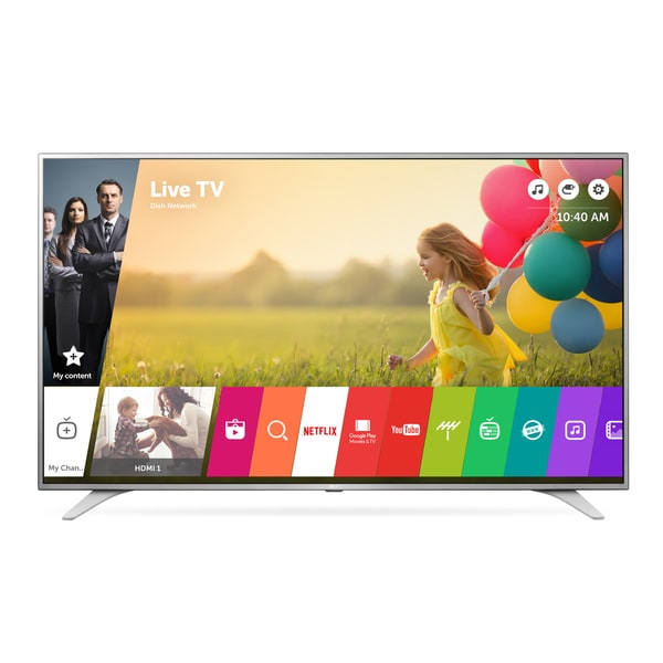 LG 43UH6500 43-inch Class 4K UHD LED Television with 120HZ Smart Tv and WebOs