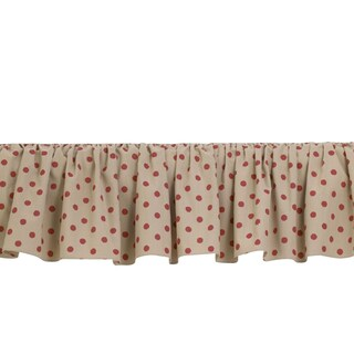 Raspberry Dot Bed Skirt