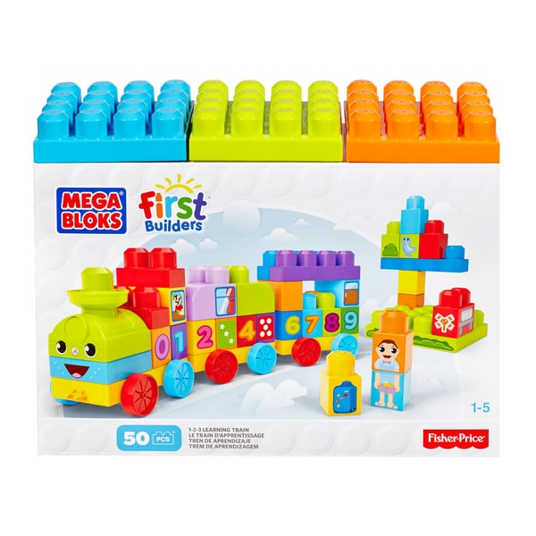 Mega Bloks First Builders 1-2-3 Learning Train