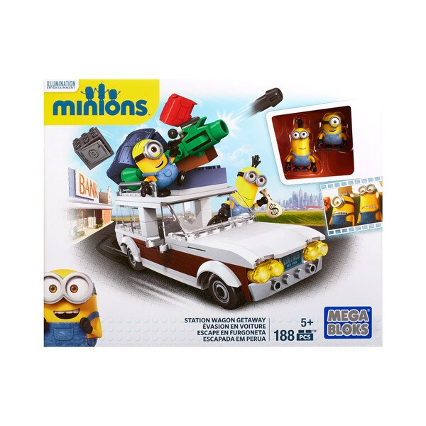 Mega Bloks Minion Movie Station Wagon Getaway