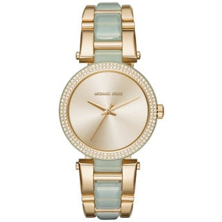 Michael Kors Women's MK4317 Delray Gold Dial Two-Tone Bracelet Watch