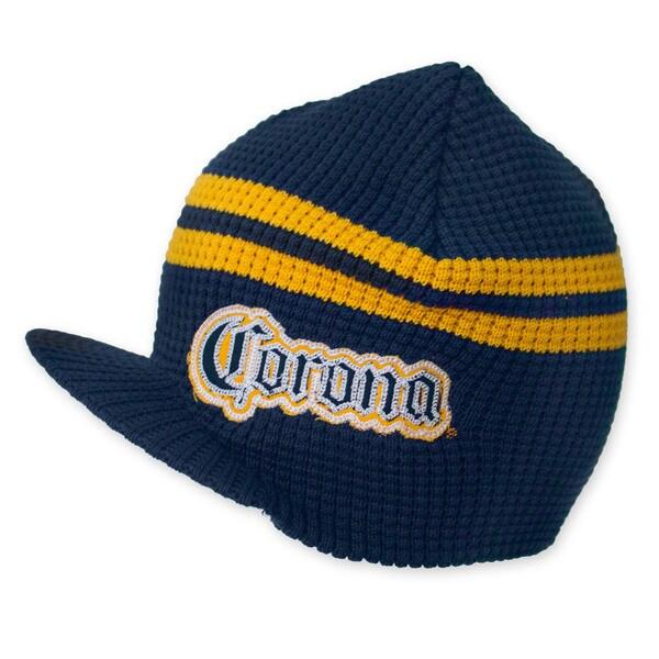 Corona Navy Blue Brimmed Beanie