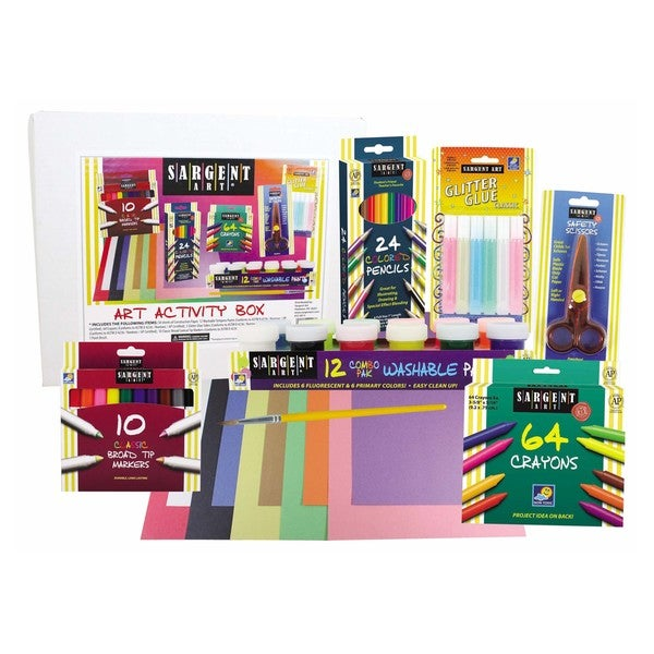 Sargent Art 9 Piece Glitter and Paint Art Activity Box 17765493