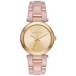 Michael Kors Women's MK4316 Delray Gold Dial Two-Tone Bracelet Watch