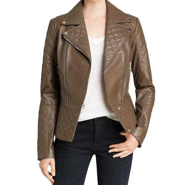 Dawn Levy Women's Dakota Khaki Leather Jacket