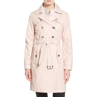 Laundry by Shelli Segal Women's Dusty Pink Trench Coat