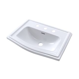 Toto Clayton Drop In/Self Rimming Vitreous China Bathroom Sink LT781.8#01 Cotton White