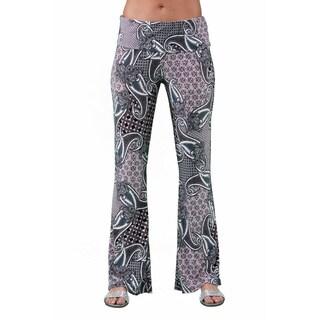 24/7 Comfort Apparel Women's Geometric Paisley Printed Pant