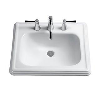 Toto Promenade Drop In/Self Rimming Vitreous China Bathroom Sink LT531.8#01 Cotton White
