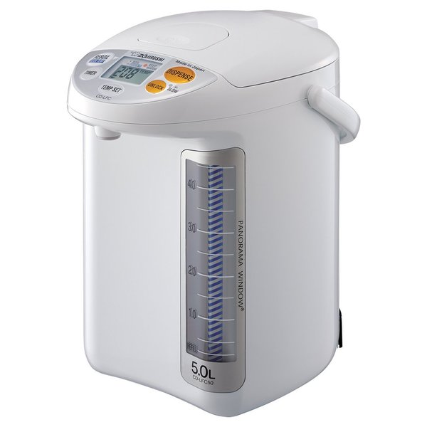 Zojirushi CD-LFC50WA White 5L Panorama Window Micom Water Boiler and Warmer