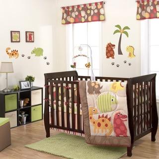 Belle Dino World 3-piece Crib Bedding Set