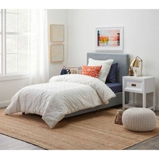 DHP Alexander Light Grey Upholstered Twin Bed