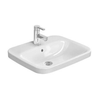 Duravit DuraStyle Drop In/Self Rimming Porcelain Bathroom Sink 0374560000 White Alpin