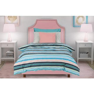 DHP Melita Pink Linen Upholstered Twin Bed