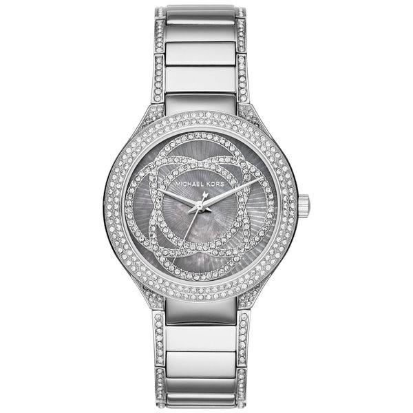 Michael Kors Women's MK3480 Kerry Grey Mother Of Pearl Dial Stainless Steel Bracelet Watch