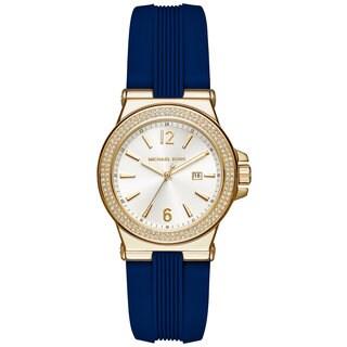 Michael Kors Women's MK2490 Mini Dylan White Dial Blue Silicone Watch