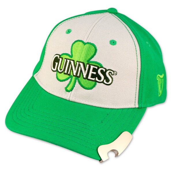 Guinness Shamrock Bottle Green/ White Opener Hat