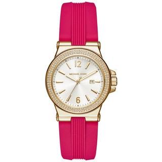 Michael Kors Women's MK2488 Mini Dylan White Dial Pink Silicone Watch