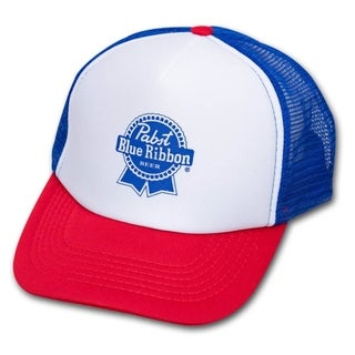 Pabst Blue Ribbon PBR Red White and Blue Trucker Hat