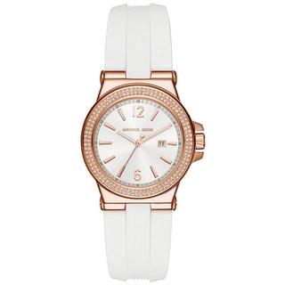 Michael Kors Women's MK2491 Mini Dylan White Dial White Silicone Watch