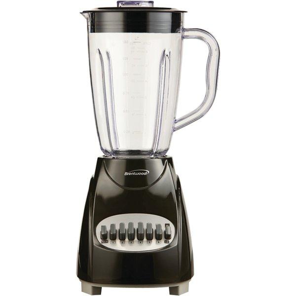 Brentwood JB-220B Black 1.5L 12-Speed Blender Plastic Jar